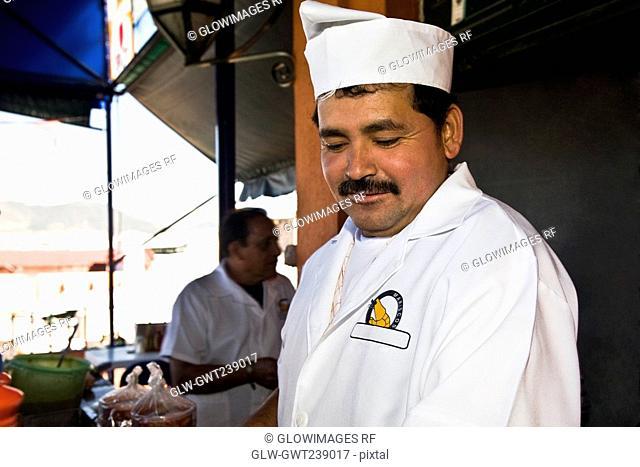 Close-up of a chef, Morelia, Michoacan State, Mexico