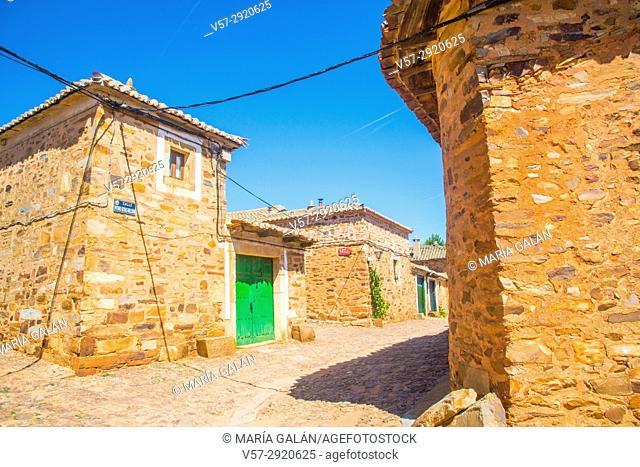Traditional architecture. Castrillo de los Polvazares, Leon province, Castilla Leon, Spain