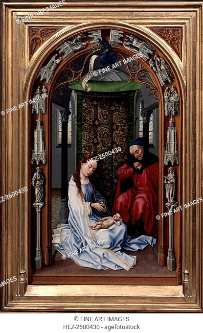 The Altar of Our Lady (Miraflores Altar), left panel, c. 1440. Found in the collection of the Staatliche Museen, Berlin