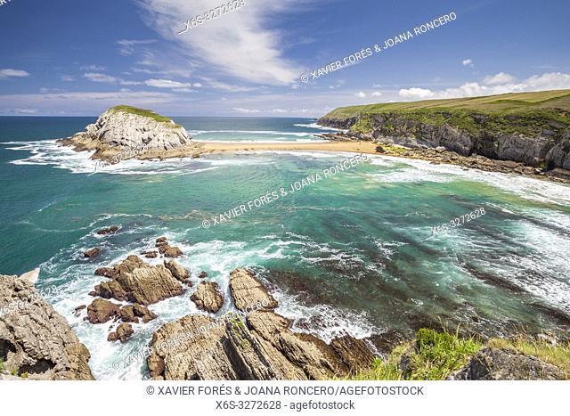 Castro Island, Liencres, Cantabria, Spain