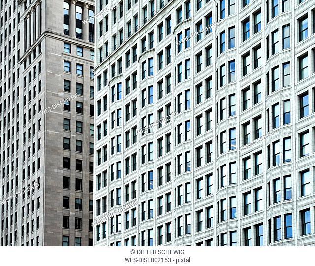 USA, Illinois, Chicago, High-rise building, facades