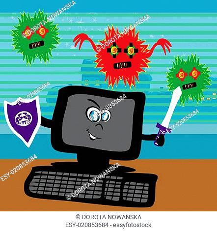 Computer virus attacking