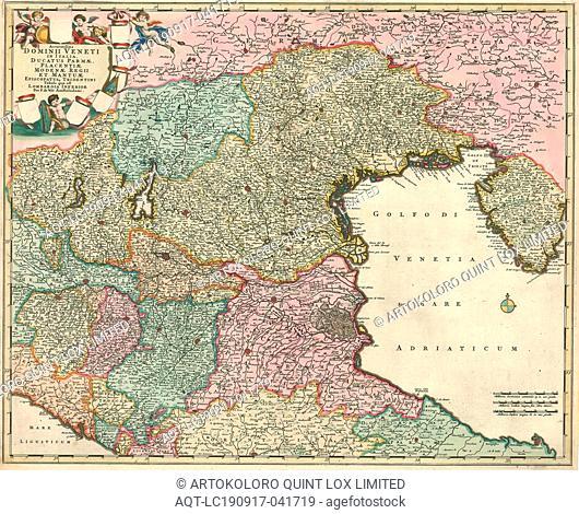 Map, Accuratissima dominii Veneti in Italia, ducatus Parmae, Placentiae Modenae regii et Mantuae episcopatusq. Tridentini tabula quae est Lombardia Inferior