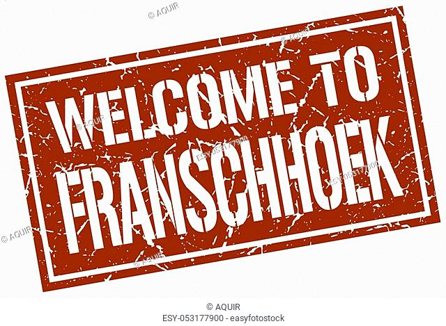 welcome to Franschhoek stamp