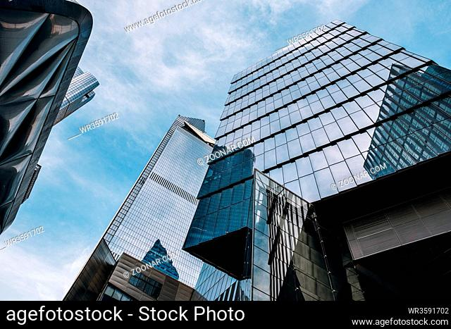 New York City - USA - Mar 14 2019: Hudson Yards is a real estate development in the Chelsea and Hudson Yards neighborhoods of Manhattan, New York City