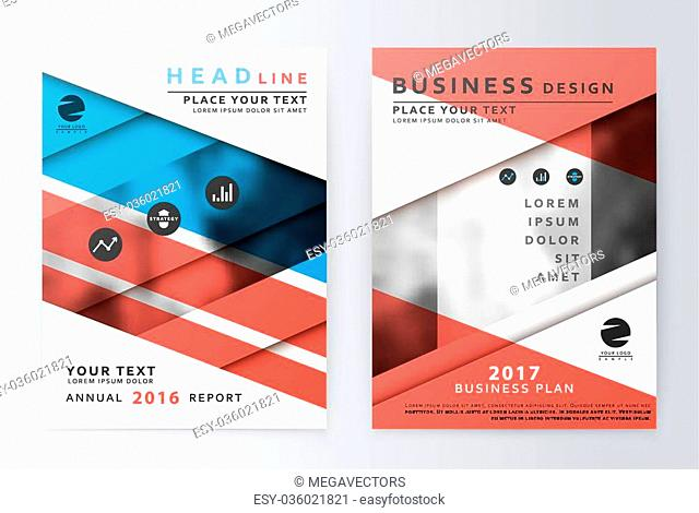 Annual report brochure. Business plan flyer design template. Business paper. Leaflet cover presentation layout in A4 size