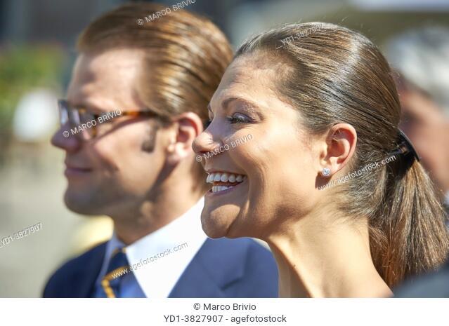 Crown Princess Victoria of Sweden and her husband Prince Daniel Westling, Duke of Västergötland in Stockholm Sweden
