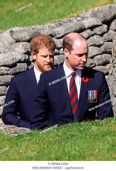The Prince of Wales, The Duke of Cambridge and Prince Harry attend the Centenary of the Battle of Vimy Ridge Featuring: Prince William, The Duke of Cambridge