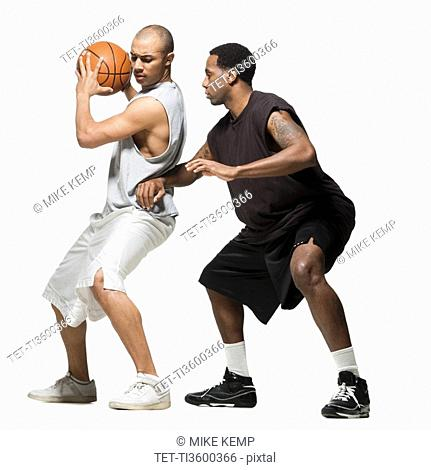 Two basketball players