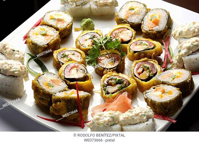 Assorted sushi plate