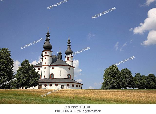 Trinity church Kappl, near Waldsassen, Upper Palatinate, Bavaria, Germany