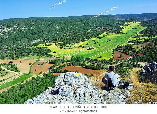 A valley in the Alto Tajo Natural Park. Ablanque, Guadalajara, Spain