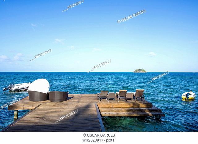 Muelle en Isla de San Andres, Archipielago de San Andres, Providencia y Santa Catalina, Colombia