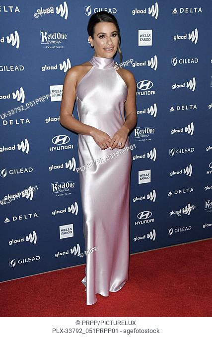 Lea Michele at the 30th Annual GLAAD Media Awards held at the Beverly Hilton Hotel in Beverly Hills, CA on Thursday, March 28, 2019