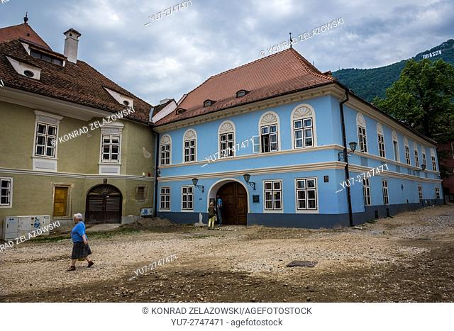 Buildings at Honterus Courtyard in Brasov, Romania