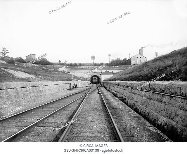 St. Clair Tunnel, Port Huron, Michigan, USA, Detroit Publishing Company, 1900