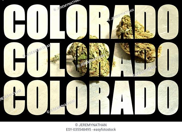 Weed, Medical Marijuana Grunge Detail and Background