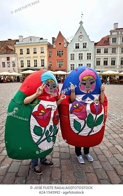 Estonia, Tallin City, Town Hall Square,tourists atraction