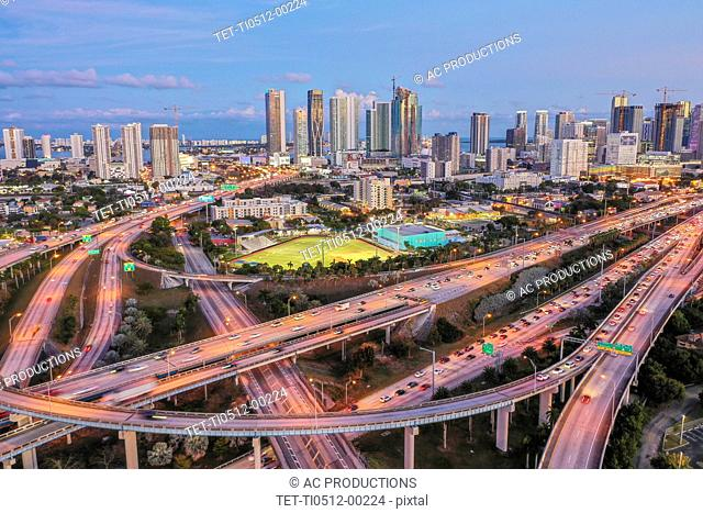 Highway bridges in Miami, USA
