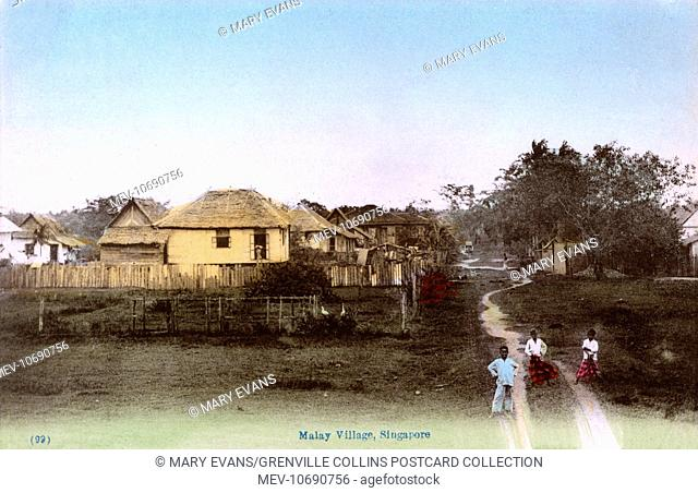 Malay Village, Stilt Houses at Pasir Panjang, Singapore
