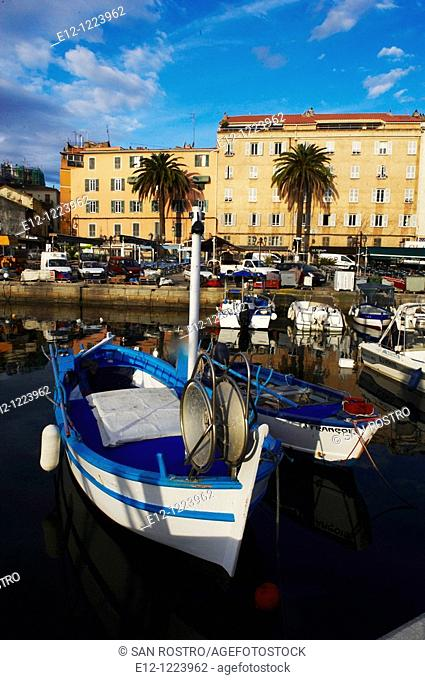 Fishing harbour Tino Rossi, Ajaccio, South Corsica, Corsica, France