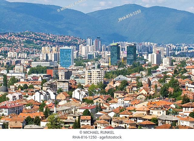 View over the town of Sarajevo, Bosnia-Herzegovina, Europe