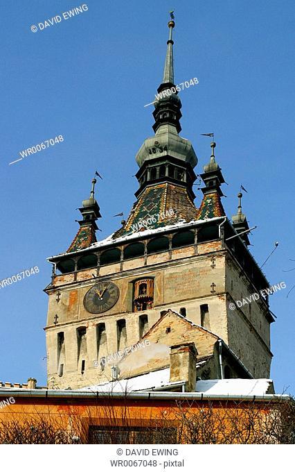 The Clock Tower, built in 1648, Singisoara, Romania
