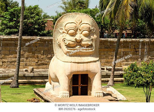 Statue of a tiger, Gangaikonda Cholapuram, Ariyalur, Tamil Nadu, India