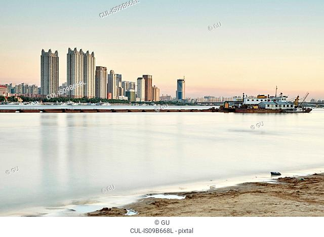 Waterfront skyscrapers, Harbin, Heilongjiang, China