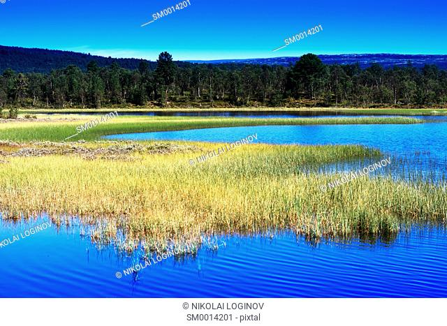 Norway lake landscape background hd