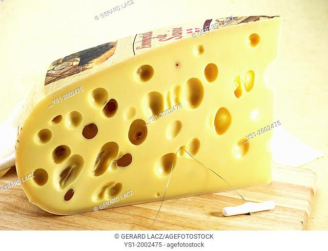 Emmental, French Cheese made from Cow's Milk