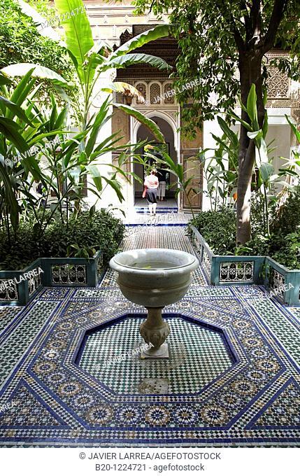Palais La Bahia, Medina de Marrakech, Morocco