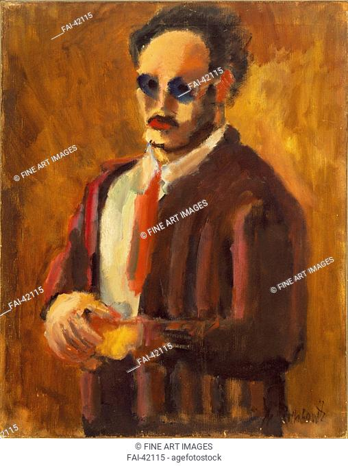 Self-Portrait by Rothko, Mark (1903-1970)/Oil on canvas/Abstract expressionism/1936/The United States/National Gallery of Art