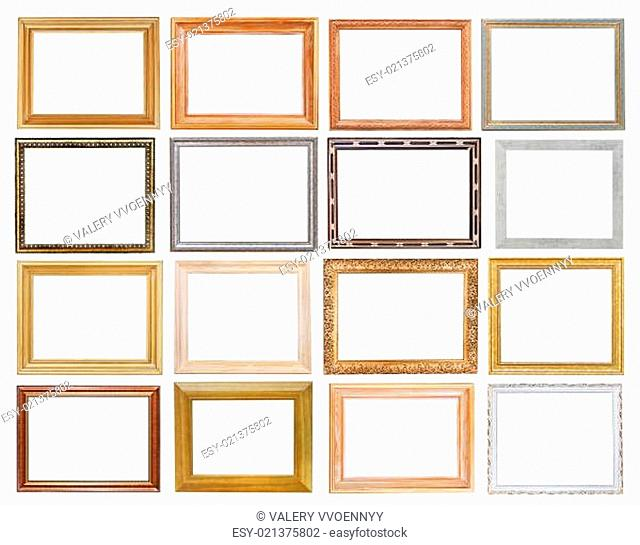 set of wide picture frames
