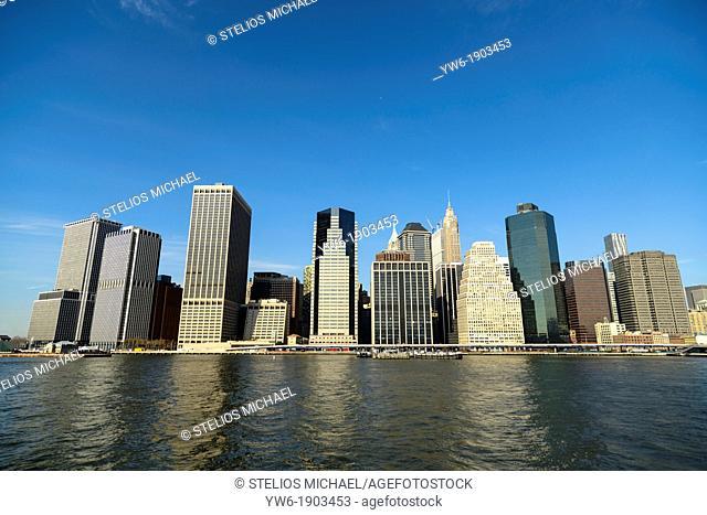 Lower Manhattan Skyline, New York, USA