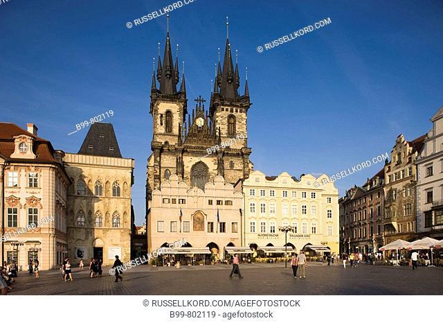 Tyn Church Old Town Square Staromestske Namesti. Prague. Czech Republic