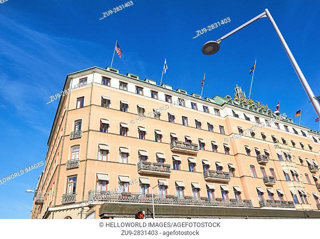 Five star Grand Hotel, opened in 1874, Stockholm, Sweden, Scandinavia