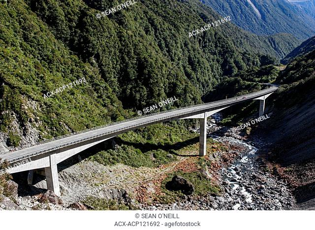 Bridge in Arthur's Pass, South Island, New Zealand