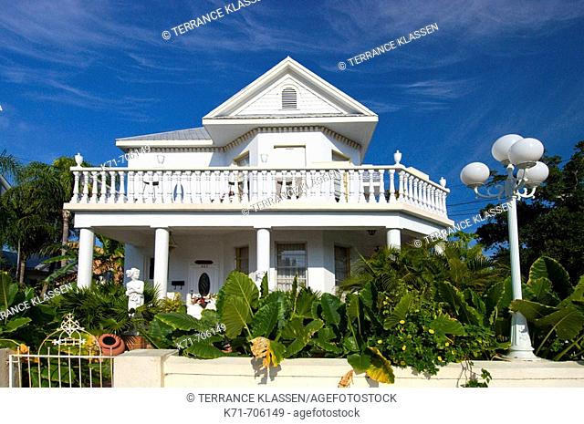 Typical Conch House architecture in Key West, Florida, USA, 2008