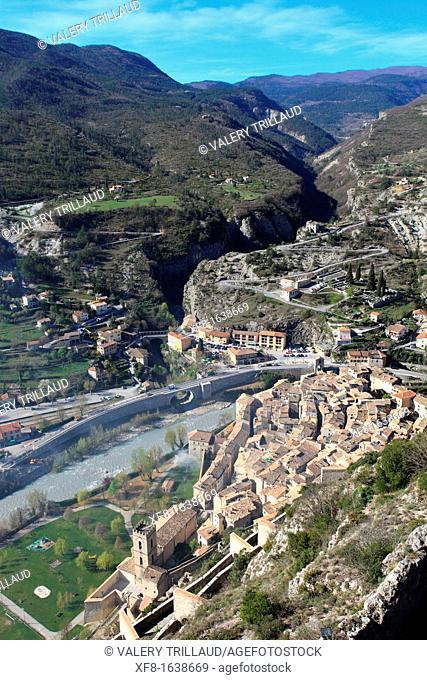 Medieval village of Entrevaux, Alpes de Haute Provence, Provence-Alpes-Côte d'Azur, France