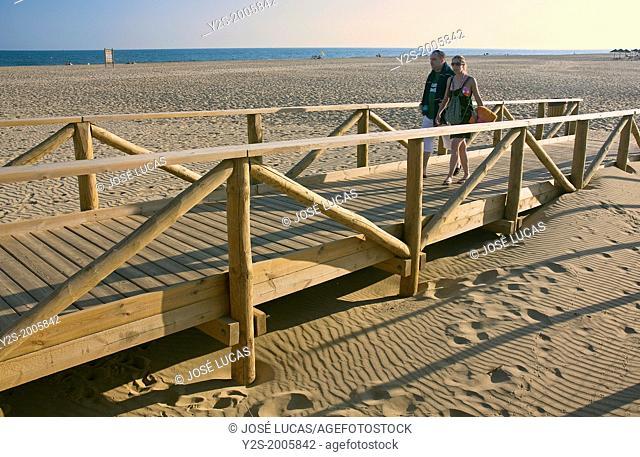 Punta del Moral Beach, Ayamonte, Huelva-province, Region of Andalusia, Spain, Europe