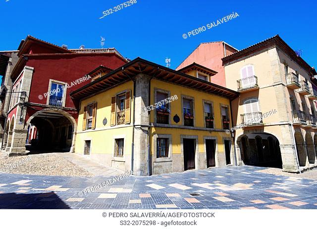 Buildings in Aviles, Asturias, Spain