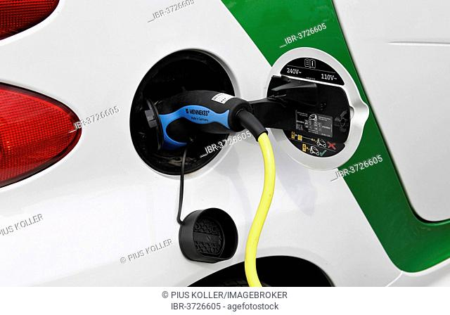 Fuel tank cap and plug of an electric Smart, Zurich, Canton of Zurich, Switzerland
