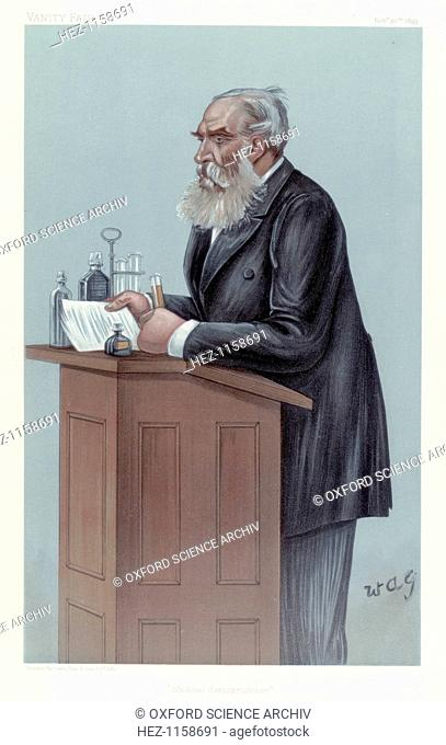 Thomas Stevenson, British forensic scientist, 1899. Stevenson (1838-1908) was a scientific analyst and toxicologist who acted as an expert witness