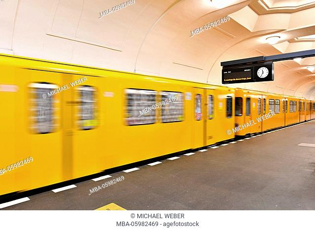 Underground station 'Platz der Luftbrücke', Berlin, Germany, Europe
