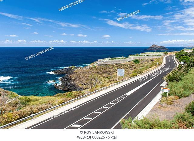 Spain, Canary Islands, Tenerife, Coastal road on the north coast to Garachico