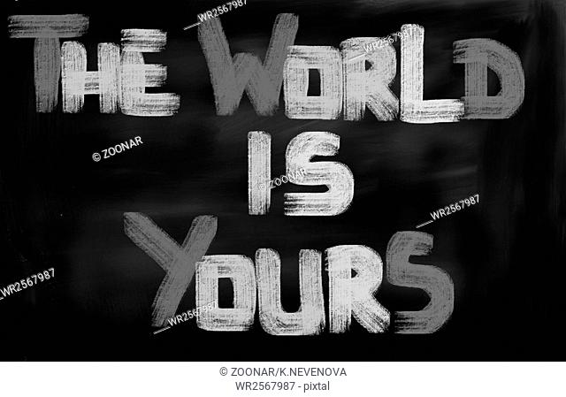 The World Is Yours Concept