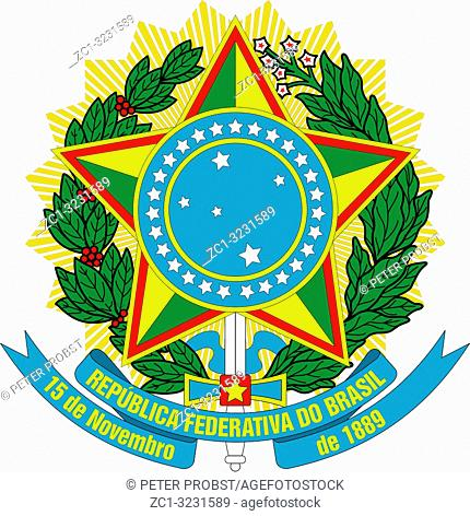 National coat of arms of the Federative Republic of Brazil