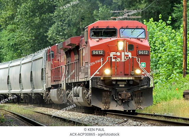 CP Freight Train with Potash Cars