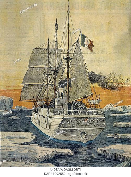 Journey to the North Pole: The Polar Star ship which carried Prince Luigi Amedeo of Savoy-Aosta, Duke of the Abruzzi, to the Bay of Teplitz on Rudolf-Island...